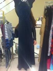 dress,prom dress,maxi dress,navy,long prom dress,lace dress,lace