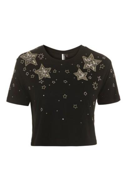 Topshop top embellished black