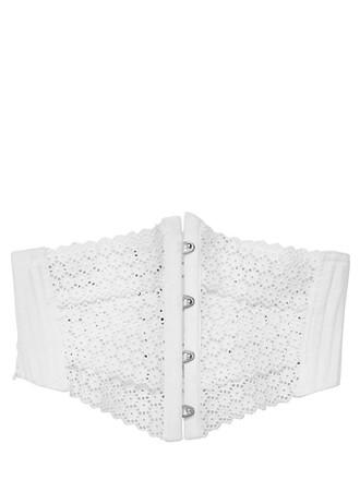 embroidered belt cotton white