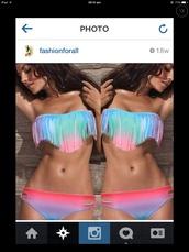 swimwear,colourful bikini,pink