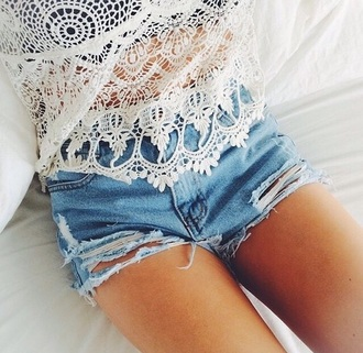 top white white top tank top white tank top lace top lace tops shorts denim shorts denim high waisted shorts summer shorts summer top summer outfits summer cute cute summer outfits