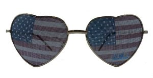 Amazon.com: American Flag Lens Heart Shaped Sunglasses: Everything Else