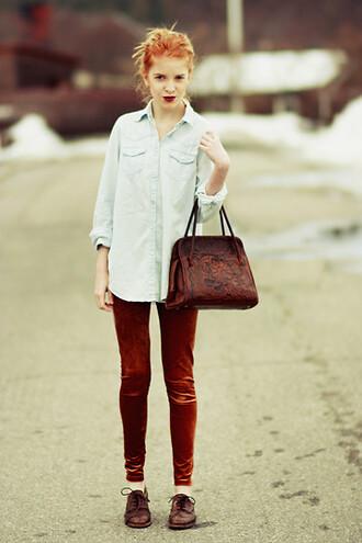 velvet leggings pants