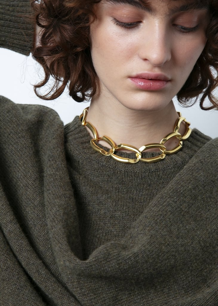 B-Tal Gold Plated Chain Necklace