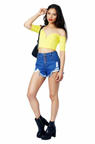 sweetheart neckline top lime off shoulder crop top yellow grunge crop tops plunge v neck summer outfits festival chic