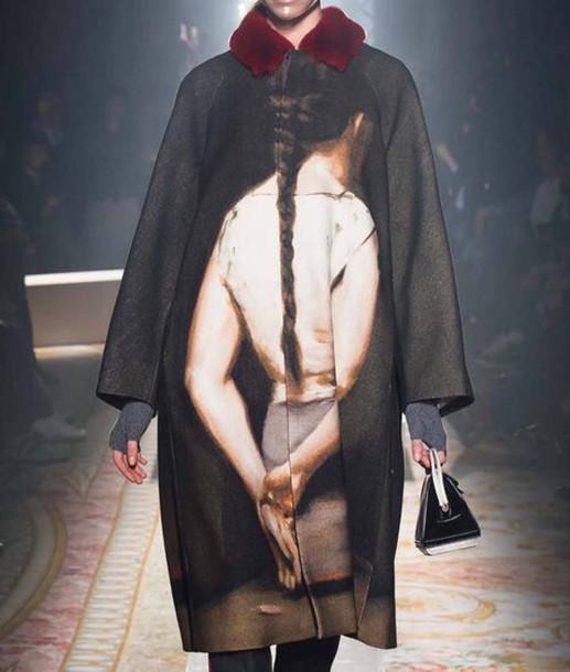 coat menswear cool korean fashion mdoern poncho