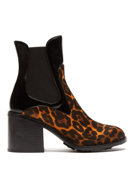 Fabrizio Viti - Madison Leopard Print Leather Ankle Boots - Womens - Leopard