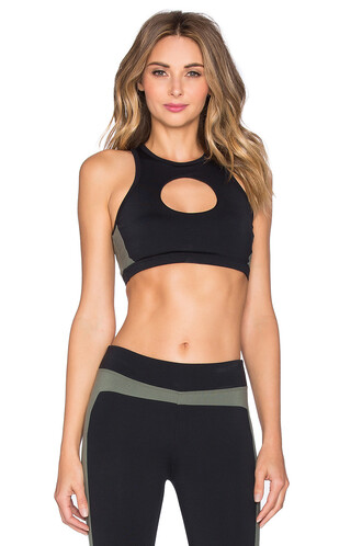 bra sports bra open black