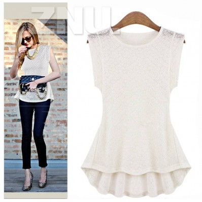 Casual slim lace t