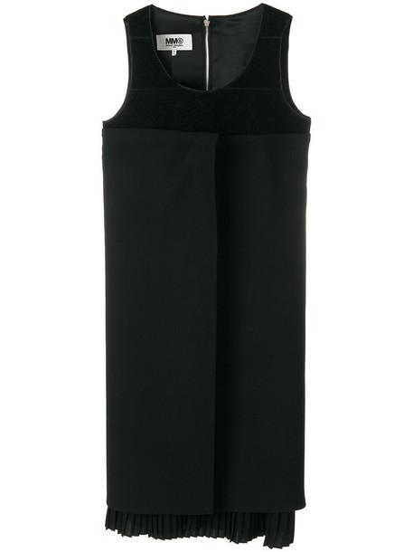 Mm6 Maison Margiela dress pleated dress pleated women spandex black wool