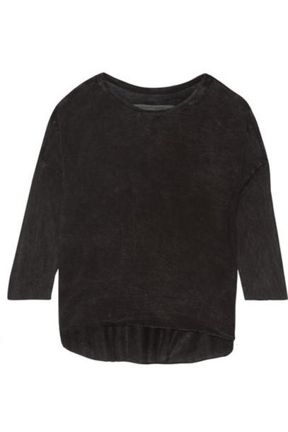 Raquel Allegra - Tie-dyed Jersey Top - Black