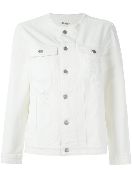 jacket women white cotton