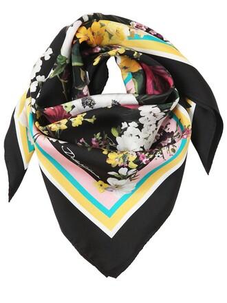 scarf silk scarf floral silk multicolor