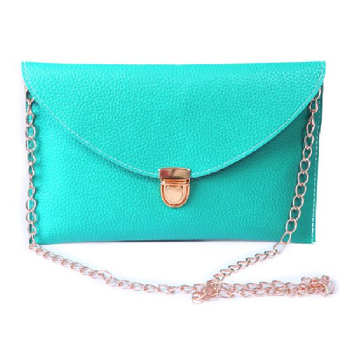 Hde fashion leather envelope clutch with drop