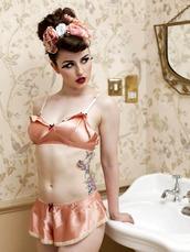 underwear,pink,silk,satin,vintage,retro,lingerie,sexy lingerie,lingerie set