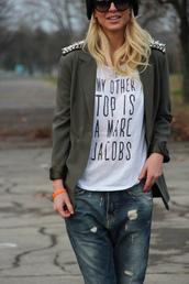 t-shirt,tee shirt message,tshirt dress,marc jacobs,jacket,white shirt