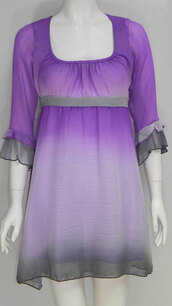 dress,womens chiffon tie die smoke sheer dress summer lilac