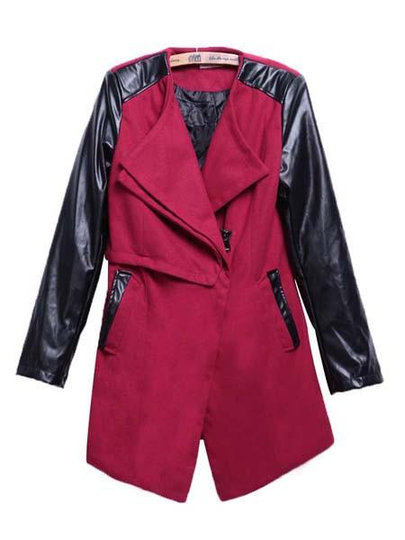 Wool panel trench coat