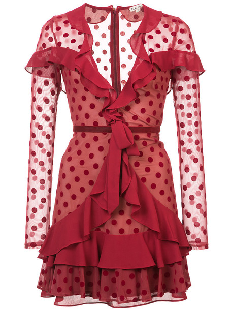 For Love and Lemons dress women spandex red