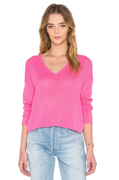 sweater v neck pink