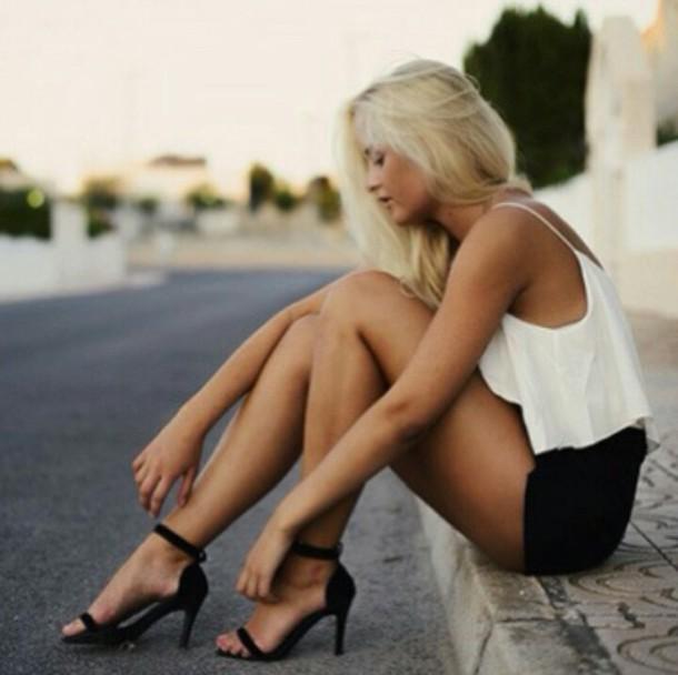 shoes black heels cardigan