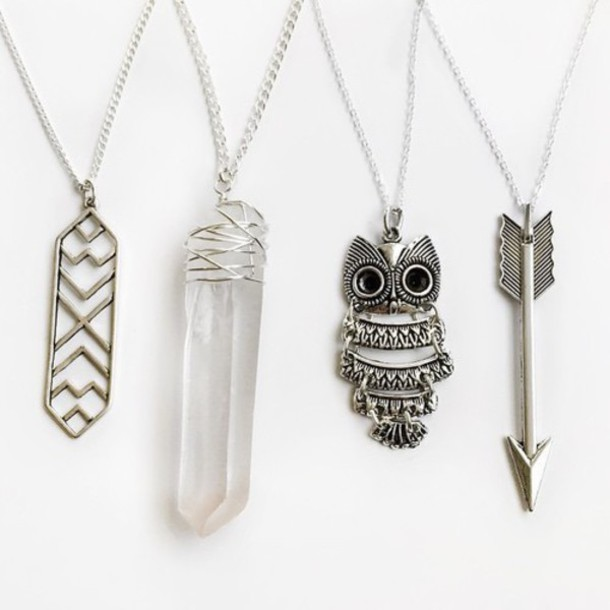 jewels silver necklace boho jewelry coat