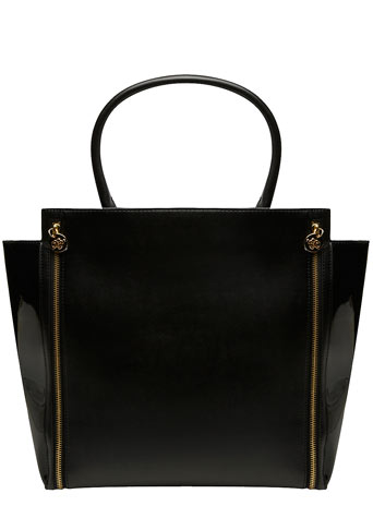 Black double zip tote bag - Bags & Purses  - Accessories  - Dorothy Perkins