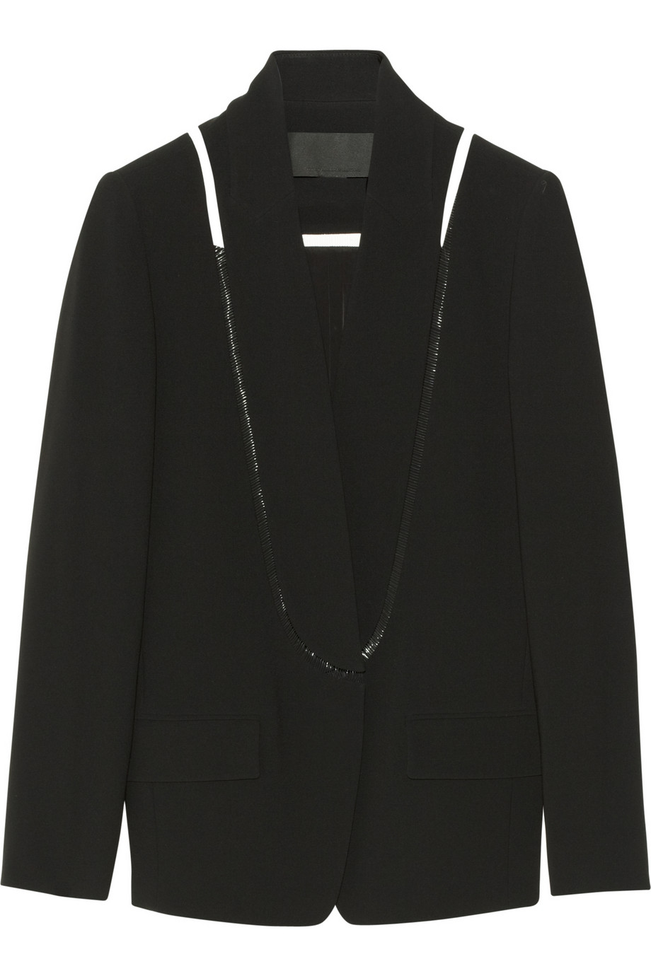 Alexander Wang Crepe-jersey and fishline blazer – 60% at THE OUTNET.COM