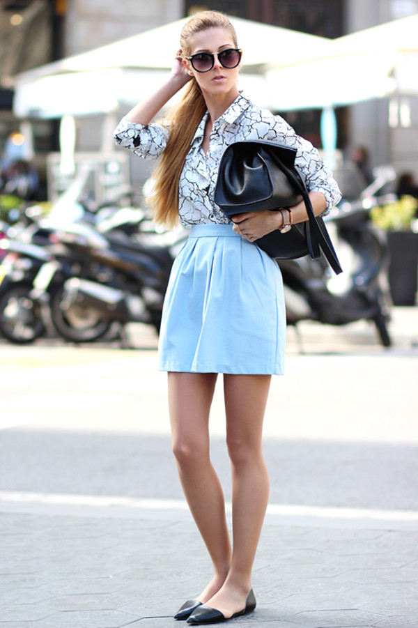 sirma markova shirt skirt bag jewels sunglasses
