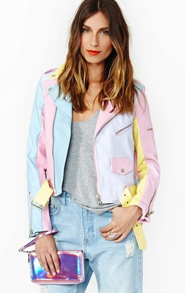 rainbow jacket vintage multi-color tapestry jacket motorcycle tvd the cw abc aria montgomery