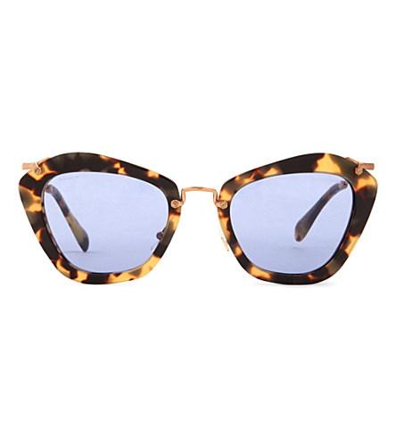 Havana cat-eye sunglasses MU10NS