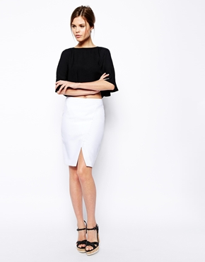 ASOS | ASOS Pencil Skirt with Wrap at ASOS