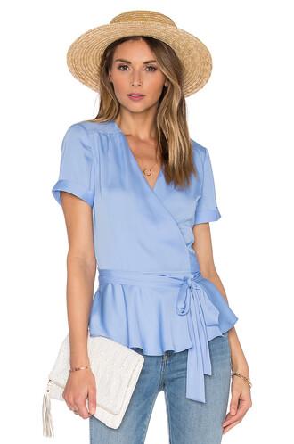 blouse retro blue