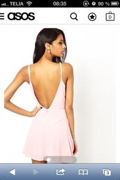 dress,low back dress,white dress,pink dress,short dress