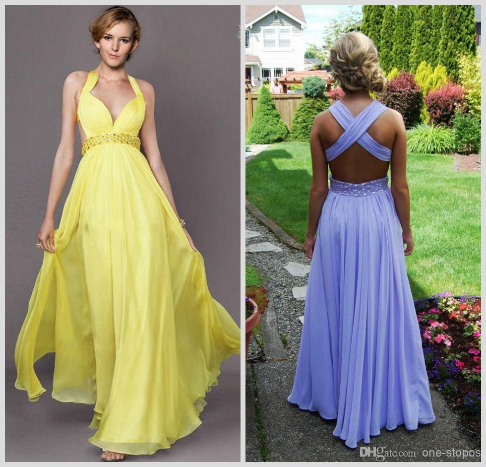 Yellow Summer Bridesmaid Dresses 69