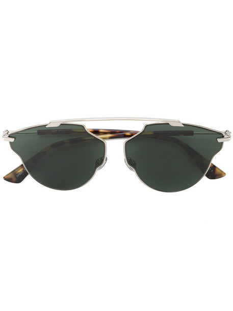 Dior Eyewear metal women sunglasses green grey metallic