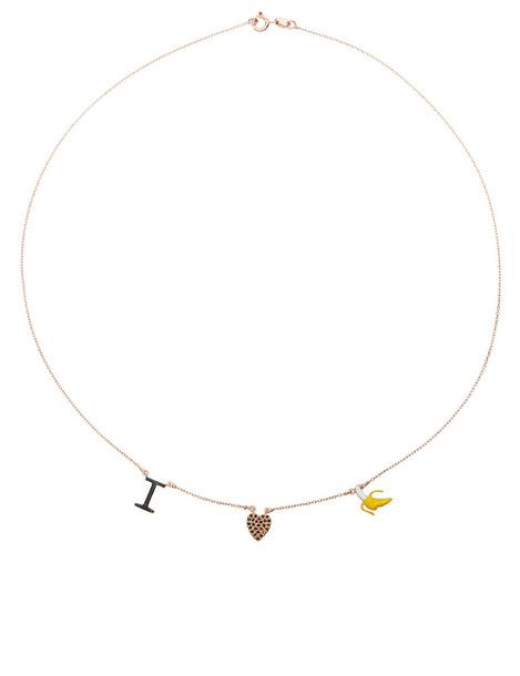 Aamaya By Priyanka love necklace rose gold rose gold