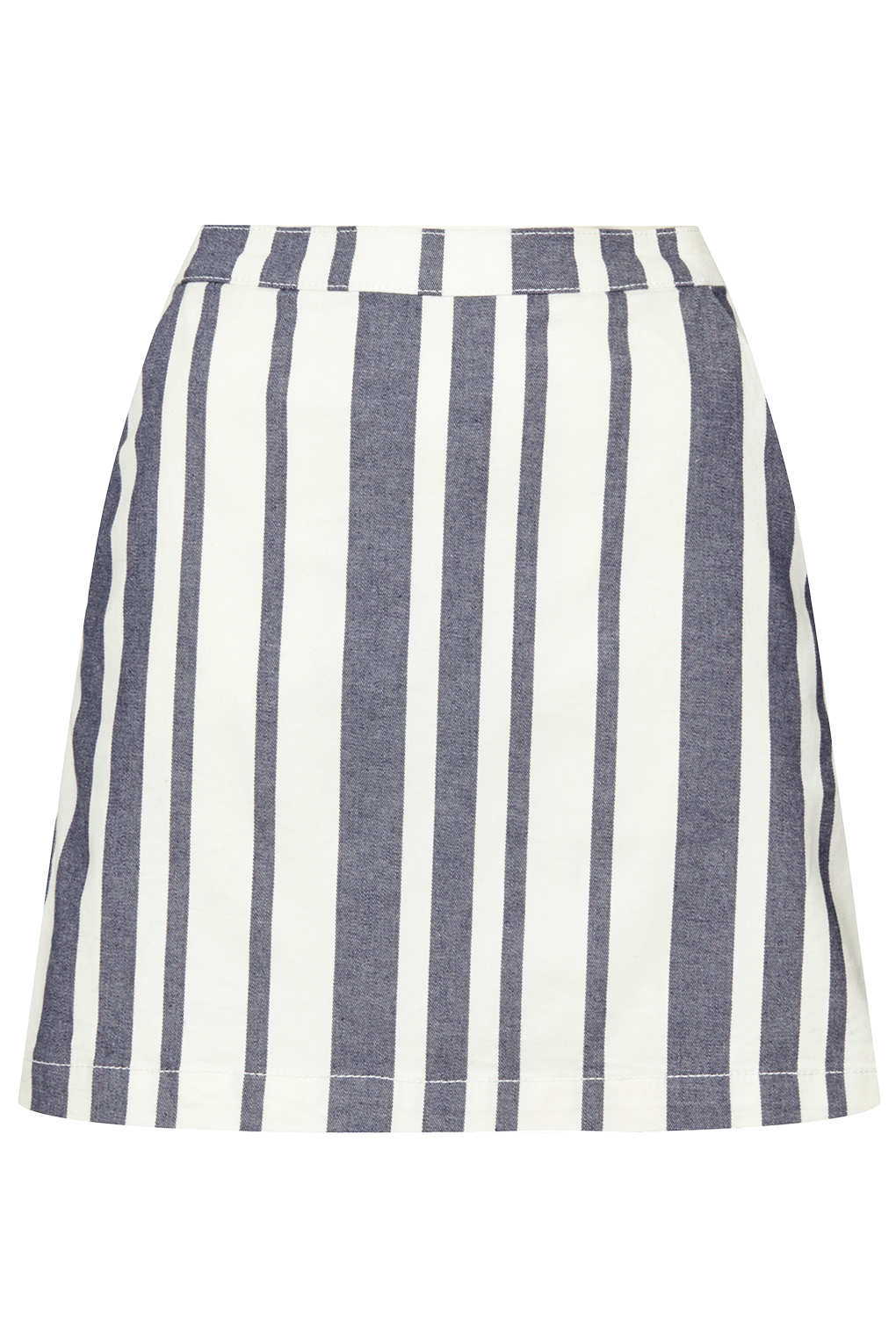 Stripe Denim Skirt - Skirts - Clothing