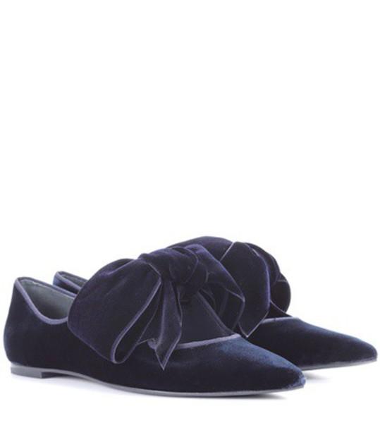 Tory Burch velvet blue shoes