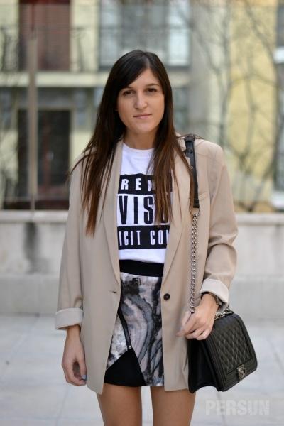 Graffiti Letters Print T-shirt in White [FCBI00487] - PersunMall.com