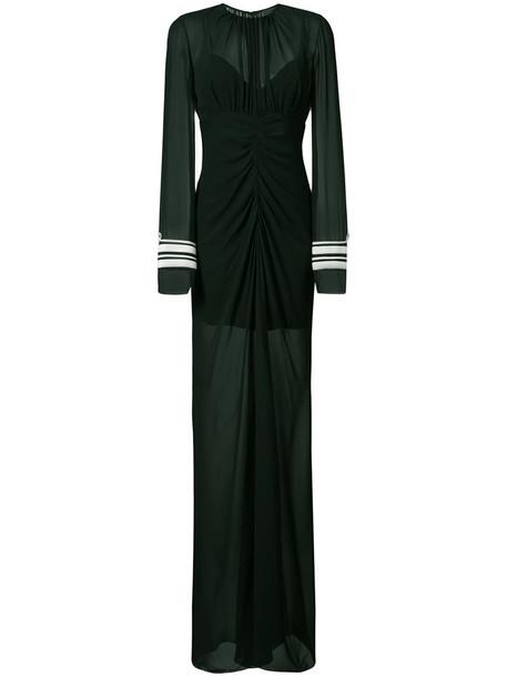 Vera Wang gown women draped black silk dress