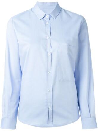 shirt classic blue top