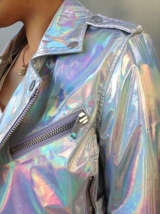 jacket kawaii grunge style fashion holographic