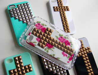 jewels cross studs iphone cover iphone case