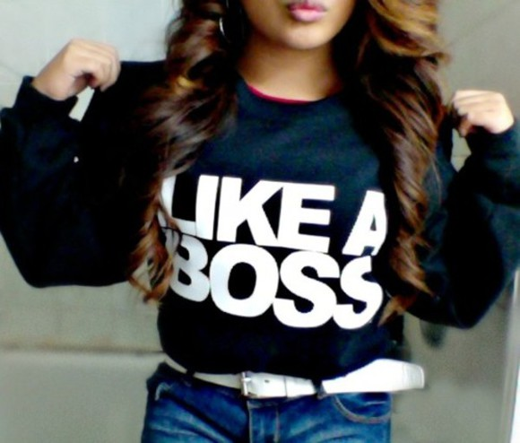 likeaboss sweater crewneck