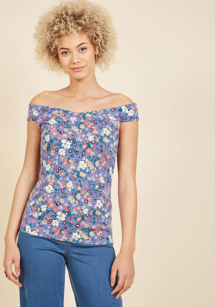 MCT1177A top classy floral purple