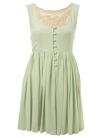 vintage dress green dress mint