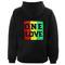 One love rasta hoodie back