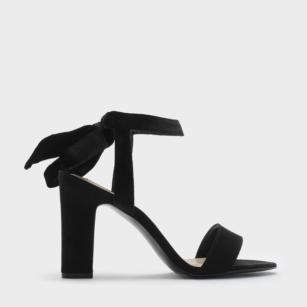 open sandals black shoes