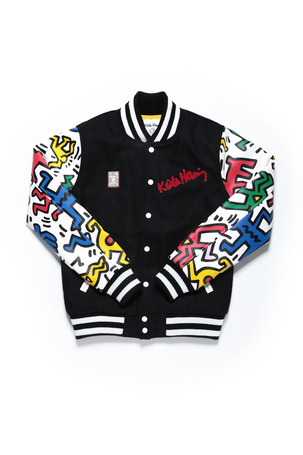 MAN & DOG VARSITY JACKET / BLACK X MULTI - JOYRICH Store